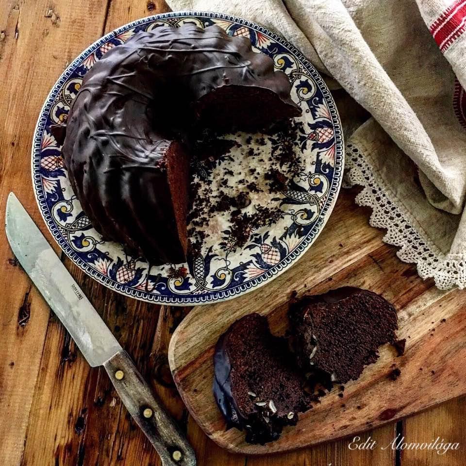 Csokoládés kevert kuglóf