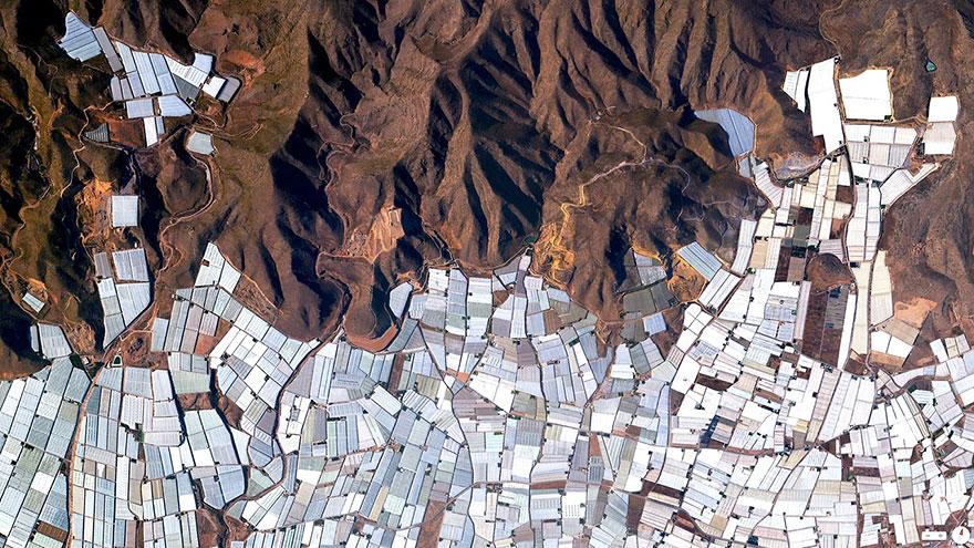 Üvegházak-Almeria-Spanyolország